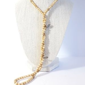 Antique Prayer Necklace Ivory & Black Madonna
